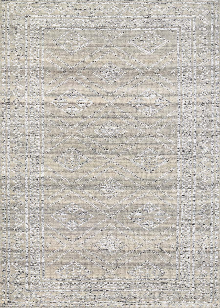 Couristan Casbah Sirsi 5374/0117 Grey Natural Rug